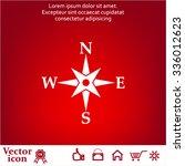 compass flat icon. vector... | Shutterstock .eps vector #336012623