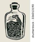 a snake in the bottle of... | Shutterstock .eps vector #336013190
