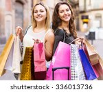 laughing girls 27 years old... | Shutterstock . vector #336013736