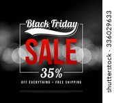 black friday sale ad template.... | Shutterstock .eps vector #336029633
