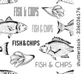 vector hand drawn fish and... | Shutterstock .eps vector #336036176