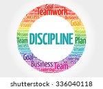 discipline circle stamp word... | Shutterstock .eps vector #336040118