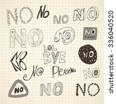 set of hand written variations... | Shutterstock .eps vector #336040520