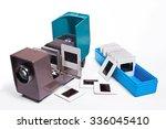 retro cine projector on white... | Shutterstock . vector #336045410