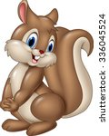 cartoon funny squirrel isolated ... | Shutterstock .eps vector #336045524