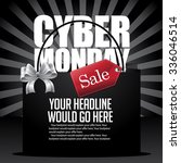 cyber monday sale background... | Shutterstock .eps vector #336046514