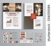 red brochure template design... | Shutterstock .eps vector #336050084