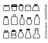 jar icons set. black silhouette ... | Shutterstock . vector #336050906