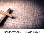 an aerial view of a holy wooden ... | Shutterstock . vector #336054560