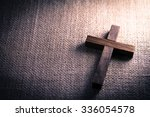 an aerial view of a holy wooden ... | Shutterstock . vector #336054578