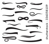set of underline lettering...   Shutterstock .eps vector #336058109