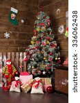 christmas tree  new year  red... | Shutterstock . vector #336062438