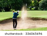 thai young man golf player in...   Shutterstock . vector #336065696