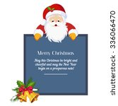 christmas card with santa claus ... | Shutterstock .eps vector #336066470
