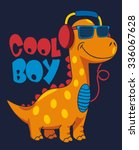 cool dinosaur character design | Shutterstock .eps vector #336067628