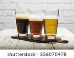 Assorted Beers In A Flight...