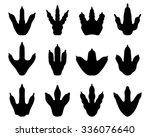footprint of dinosaur  vector | Shutterstock .eps vector #336076640
