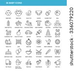 36 baby icons | Shutterstock .eps vector #336079220