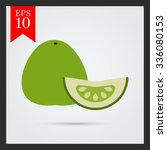 vector icon of green pomelo and ... | Shutterstock .eps vector #336080153