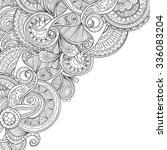 zentangle style invitation card.... | Shutterstock .eps vector #336083204