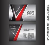 Silver And Black Business Card...