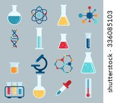 set icon chemicals  chemistry ... | Shutterstock .eps vector #336085103