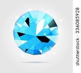shimmering diamond realistic... | Shutterstock . vector #336085928
