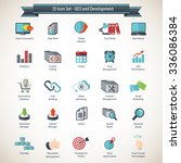 seo and development icons set | Shutterstock .eps vector #336086384