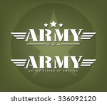 army graphic template  vector... | Shutterstock .eps vector #336092120