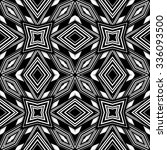black and white seamless...   Shutterstock . vector #336093500