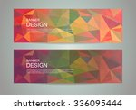 abstract banner with polygonal... | Shutterstock .eps vector #336095444