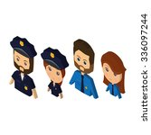 set of people with different... | Shutterstock .eps vector #336097244