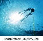 freedivers relaxing near the... | Shutterstock . vector #336097328