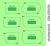 vector quote bubble. set of... | Shutterstock .eps vector #336105434