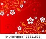 floral abstract illustration. | Shutterstock .eps vector #33611539