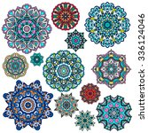 mandalas collection. round... | Shutterstock .eps vector #336124046