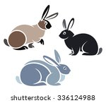 stylized domestic animals  ... | Shutterstock .eps vector #336124988
