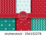 seamless minimal christmas... | Shutterstock .eps vector #336132278