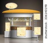 vintage exhibition stand design ... | Shutterstock .eps vector #336140198