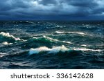Breaking Waves At Rising Storm