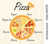 set of flat pizza icons....   Shutterstock .eps vector #336146939