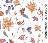 vintage floral seamless... | Shutterstock .eps vector #336151970