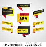vector stickers  price tag | Shutterstock .eps vector #336153194