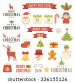 vector christmas set. isolated. ... | Shutterstock .eps vector #336155126