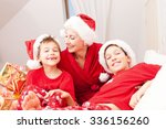 pretty mother having fun with... | Shutterstock . vector #336156260