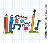 vector image of happy children... | Shutterstock .eps vector #336162050