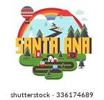 santa ana city travel...   Shutterstock .eps vector #336174689