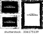 grunge frame texture set  ...   Shutterstock .eps vector #336175139
