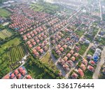 aerial shot of housing | Shutterstock . vector #336176444