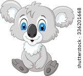 cartoon adorable koala sitting...   Shutterstock .eps vector #336201668